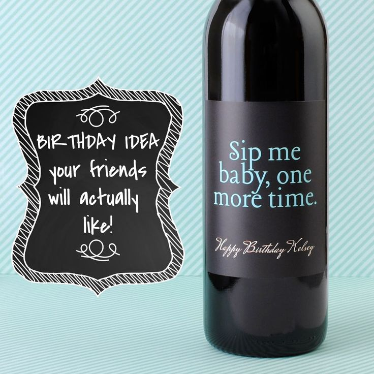 Birthday Idea for the wine lover in your life. Custom wine labels. #birthday #adultbirthday #winelabels