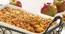 Ontario Apple Oatmeal Crisp - Here's a great recipe made from naturally sweet Ontario Eating Apples such as Empire, McIntosh, Golden Delicious Idared or others.