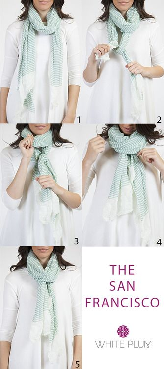 Another way to tying your scarf. Find your perfect scarf at http://mandysheaven.co.uk/ - Women's Fashion Clothes UK