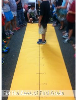 For the Love of First Grade: Life Size Number Line