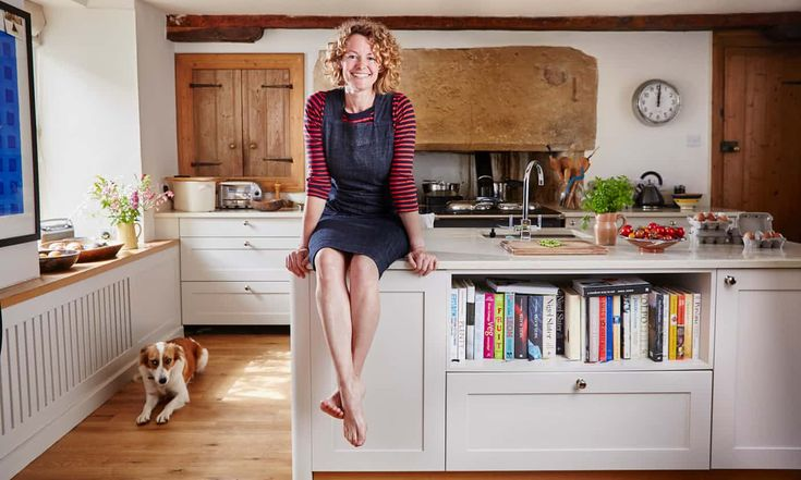 In the kitchen of Kate Humble photographed for BBC Good Food Magazine by Alun Callender