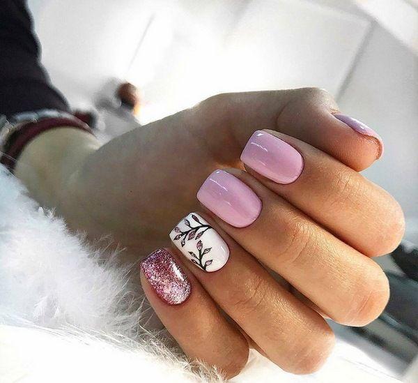 дизайн ногтей шеллак 2019 3