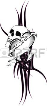 tatouage gothique Tatouage tribal de coeur t,shirt