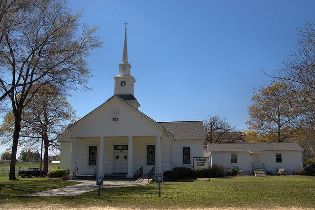 Mt. Carmel Baptist Church Laurens County GA Landmark Photograph Copyright Brian Brown Vanishing South Georgia USA 2014
