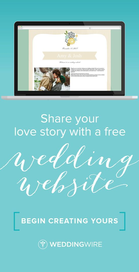 Tell your love story with our free wedding websites! Sign up to get more essential planning help!