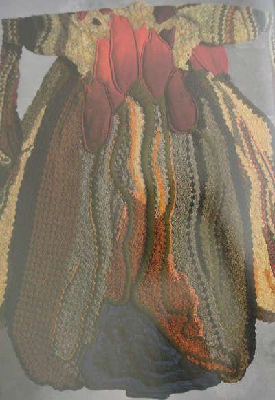 1978 Tulip Coat by Jean Williams Cacicedo, wearable art