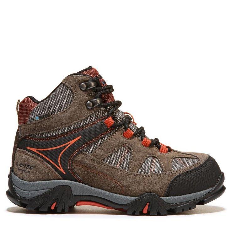 Hi-Tec Kids' Altitude Lite Waterproof Hiking Boot Preschool Boots (Smoke/Taupe/Red Rock)