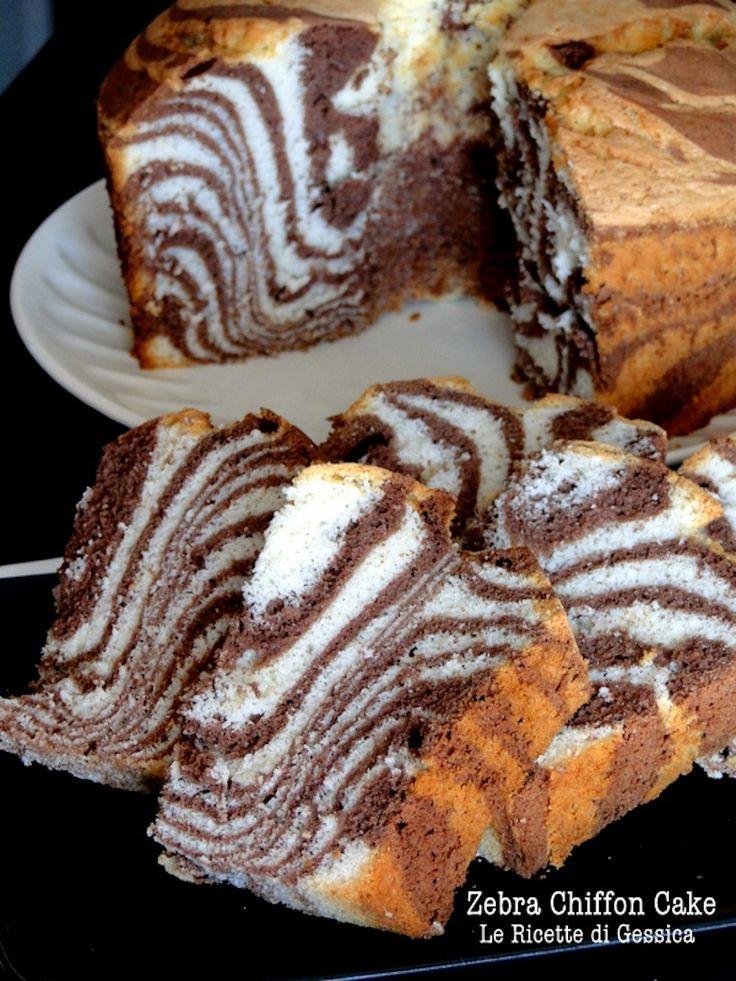 DA FARE ANCHE NEL FORNETTO : torta americana alta chiffon cake zebra