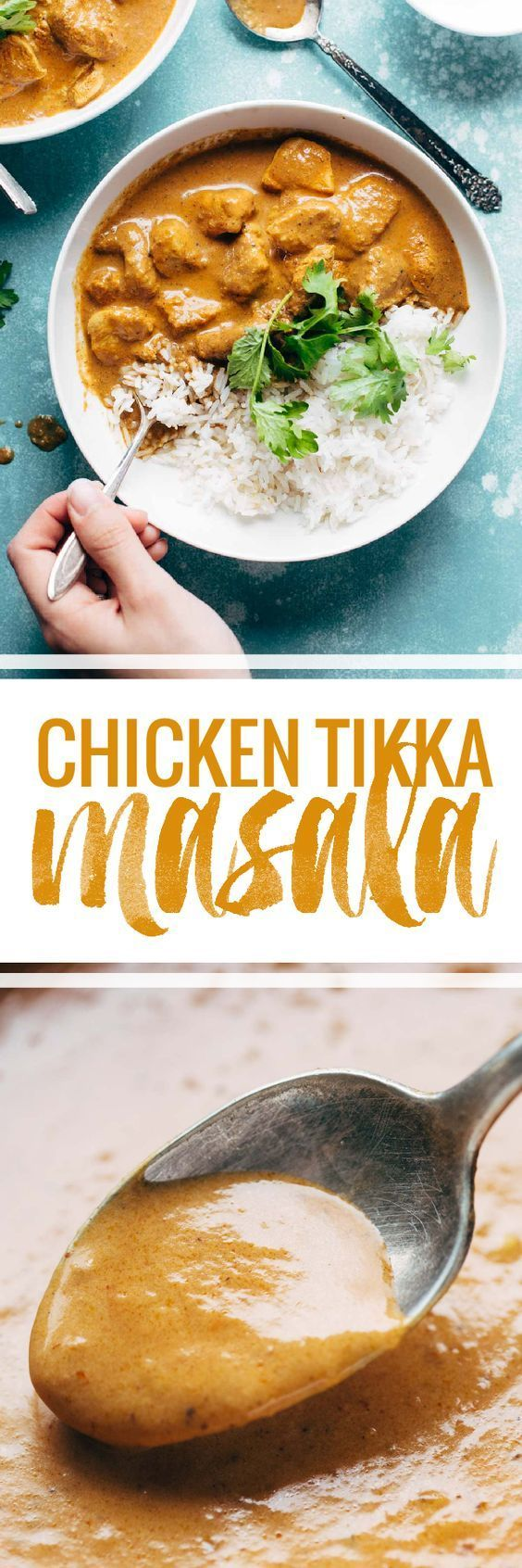 Chicken Tikka Masala - creamy, perfectly spicy, and ready in 30 minutes! you won't believe how easy it is to make this at home!   pinchofyum.com