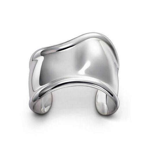 Vintage Sg'd 1978 Tiffany & Co Sterling Silver Contoured Bone Cuff Bracelet