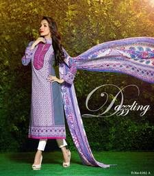 Buy Multicolor  printed Pure Cotton unstitched salwar with dupatta dress-material online