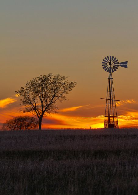 Texas Windmill; Taken in Burkburnett, Texas; Chandler Photography.  Pretty sure this is across the road from my house