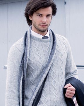 Verena Knitting Magazine –man knit sweater pattern cables