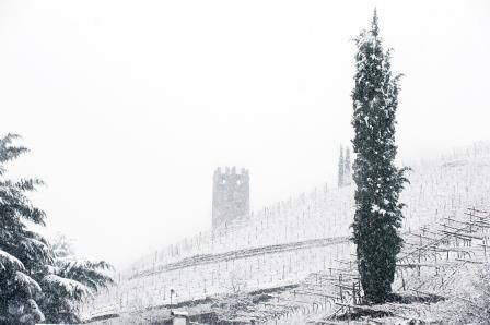 The #Druso tower in the snow