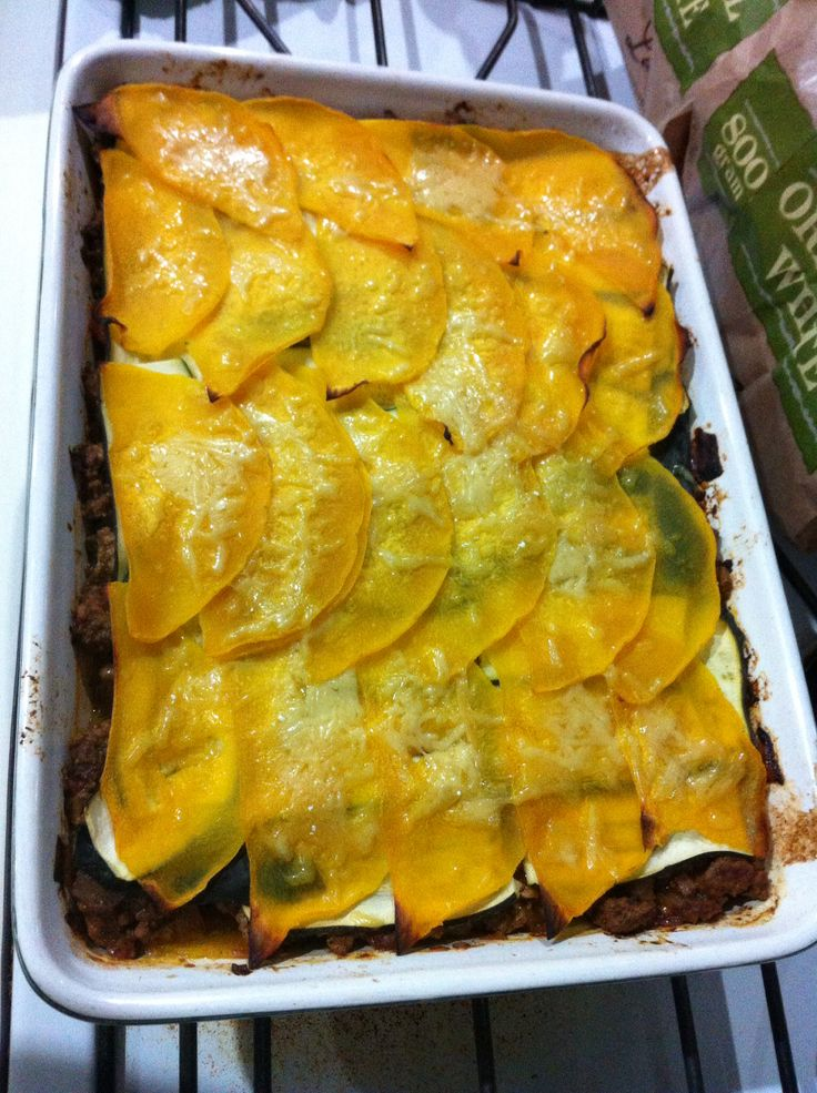 cinnamon, basil and pumpkin 'lasagna'  this and the satay chicken are my favourite, tonight I put a layer of zucchini under the pumpkin