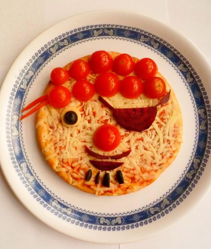 Pizza pirata vegetariana, ¡a comer verdura!