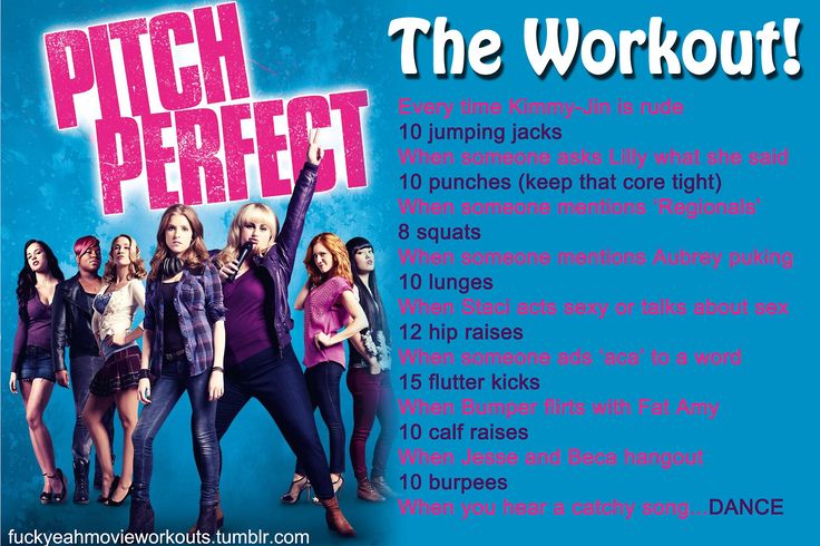 Pitch Perfect Workout!                                                                                                                                                      More