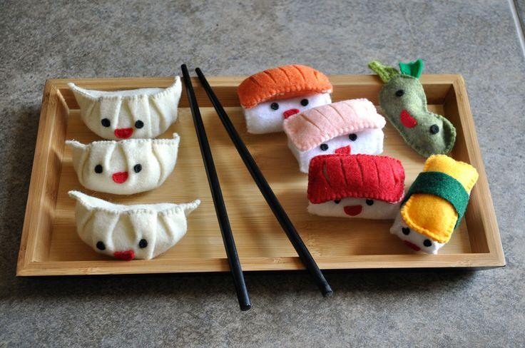 felt sushi toys