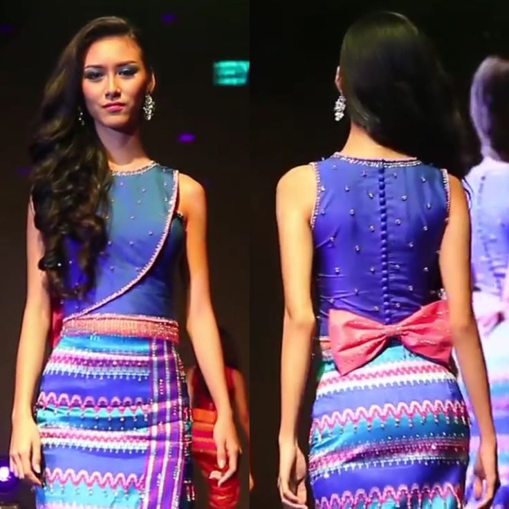 Myanmar dress design 2015