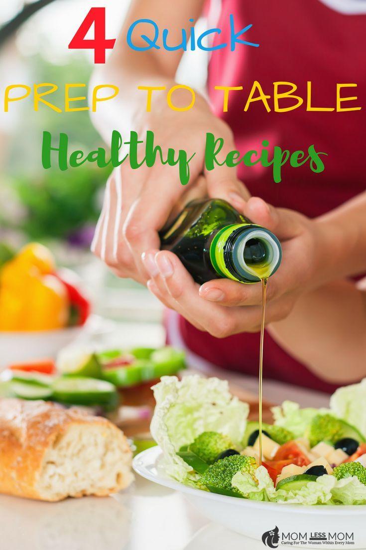 4 Quick Healthy Recipe Ideas