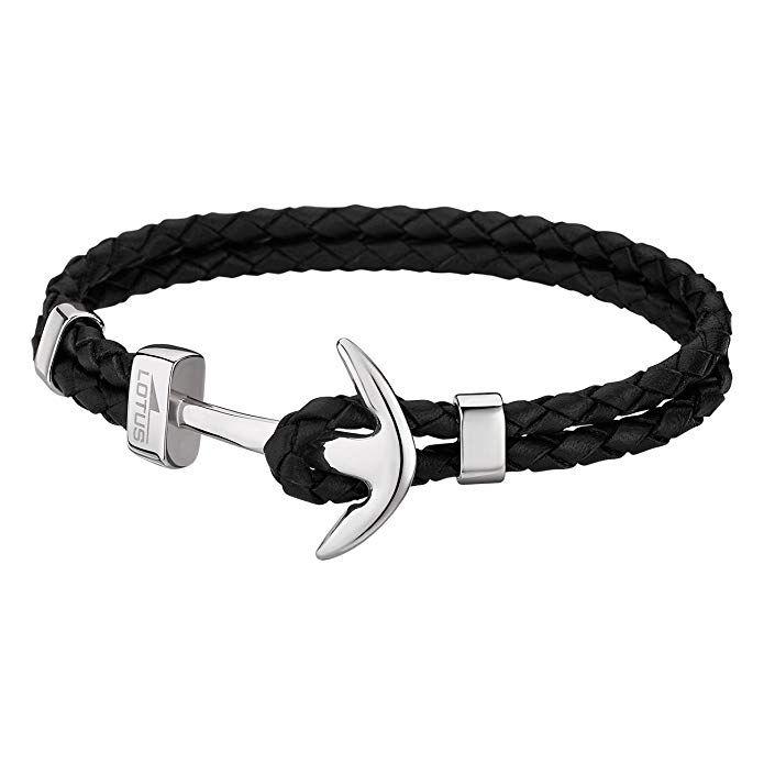 bracelet cuir homme fossil ancre