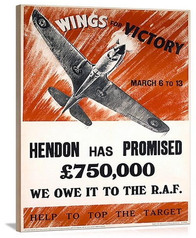 WWII Wings for Victory Production Vintage Printed On Canvas