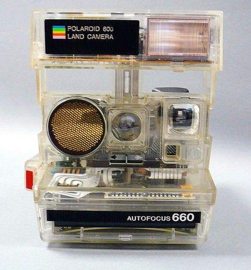 Polaroid 660 fully transparent #vintage #camera