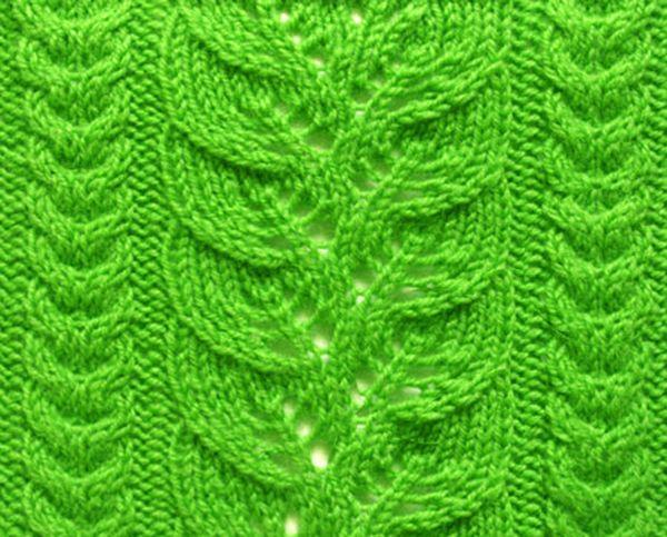 Leaf Knit Pattern