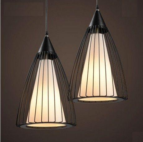 Стиле лофт творческий железная клетка из светодиодов подвесные светильники старинные промышленное освещение для столовой ткань висит лампа
