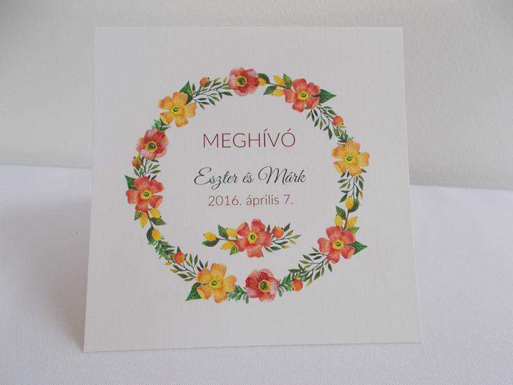 vintage esküvői meghívó 07.1