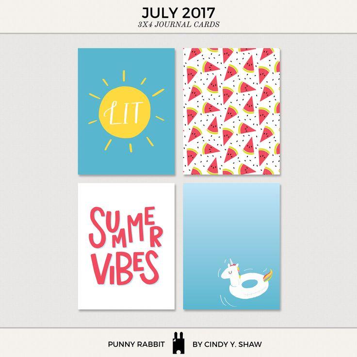 FREEBIE: 3X4 PROJECT LIFE CARDS - July 2017 — Cindy Y. Shaw