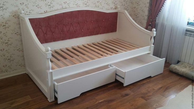 Купить Детская кровать (004) - бежевый, кровать, кровать на заказ, кровать из дерева, детская кровать