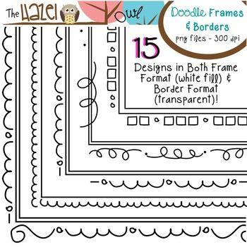Doodle Frames & Borders!  30 Graphics!  $