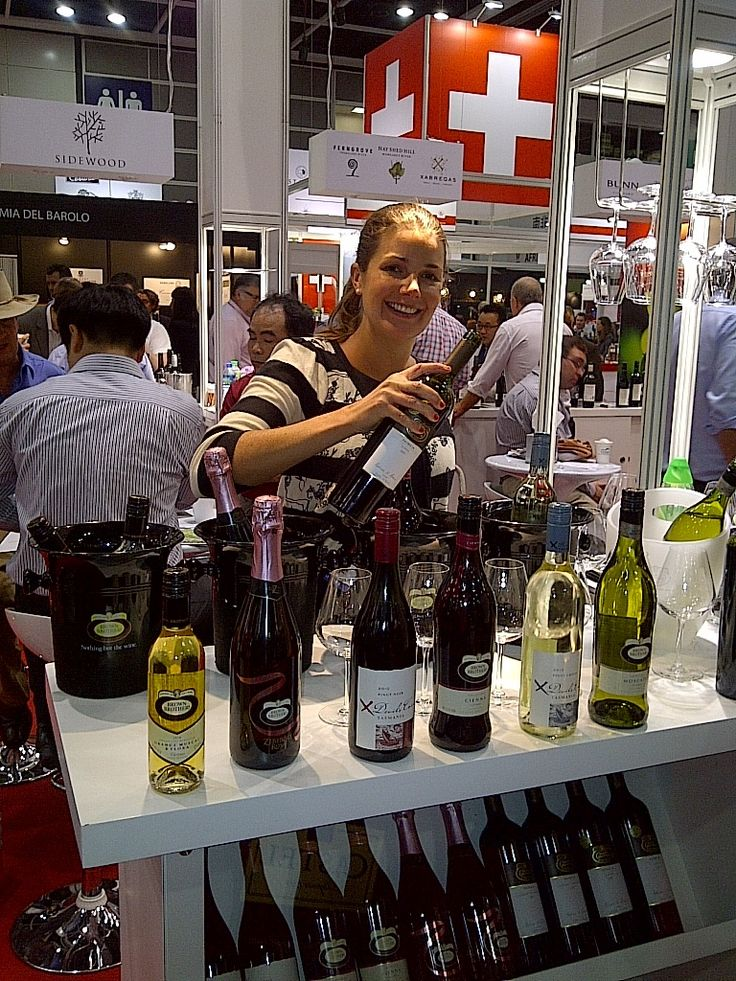 Katherine Brown taking Brown Brothers wines to China at Vinexpo 2012 in Hong Kong.