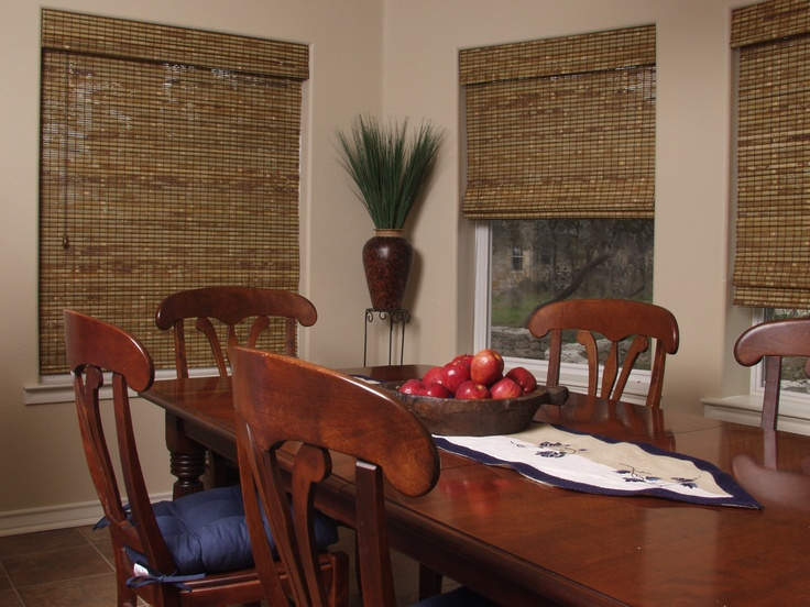natural window coverings to go with the serene zen type feeling in the guest room - Bamboo Window Shades