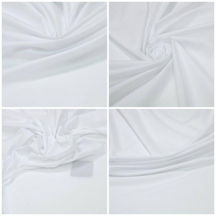 Блузочная ткань, поплин арт. 12-003-2699 Ширина: 145 см, плотность: 100г/м2 Цвет: Белый  Состав ткани: 95% хлопок 5% эластан Назначение: Блузки, рубашки #блузочная#рубашечная#хлопок#эластан#белый#поплин#tutti-tessuti