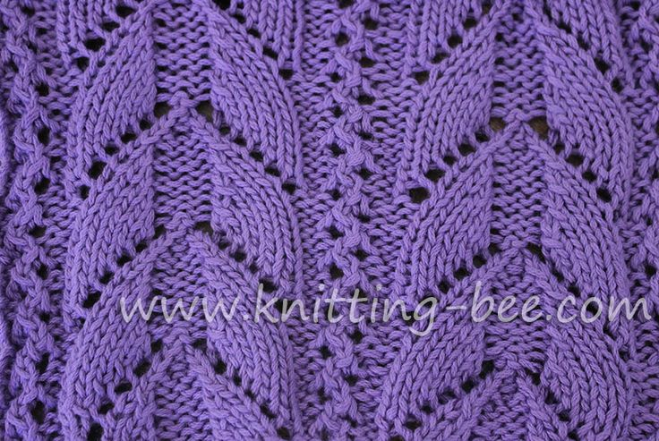 Knitting Bee Stitch Library : Lacy Arch Free Knitting Stitch by Knitting Bee. http://www.knitting-bee.com/k...