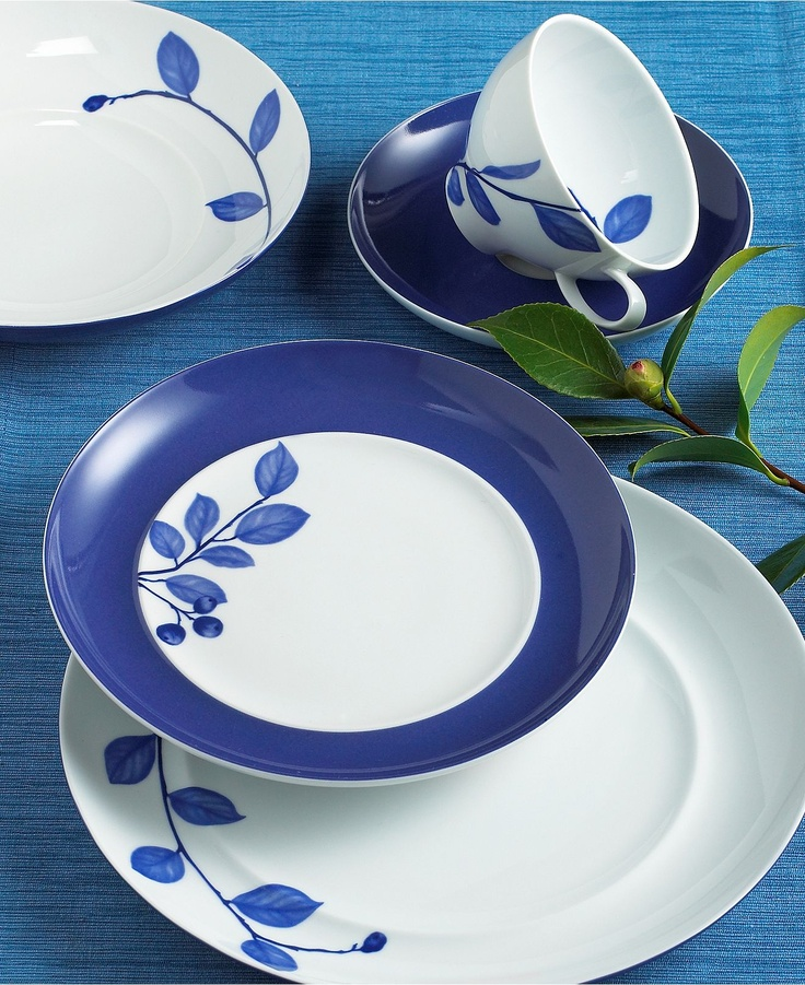 Mikasa  True Blue  Dinnerware Collection - Casual Dinnerware - Dining u0026 Entertaining - Macyu0027s : mikasa dinnerware canada - pezcame.com
