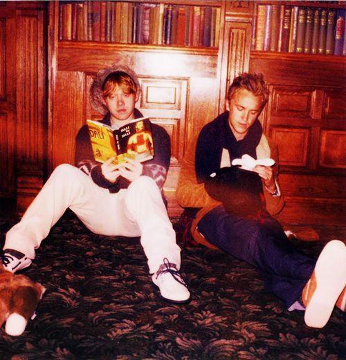 Tom Felton and Rupert Grint <3