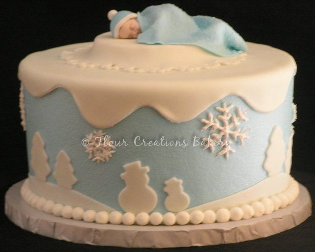 Winter Wonderland Baby Shower Cake. Chocolate Cake With Buttercream ... |  Showers | Pinterest | Shower Cakes And Cake
