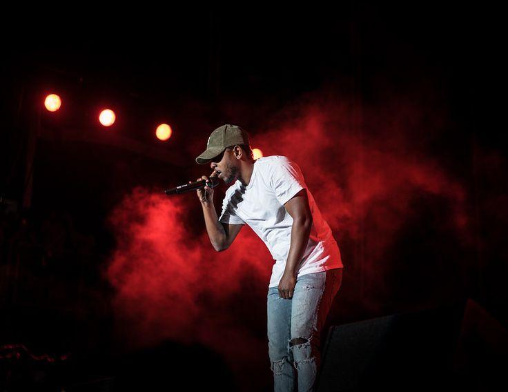 Kendrick Lamar of the music label Top Dawg Entertainment performing live at Life Is Beautiful Music & Art Festival in Las Vegas.