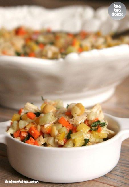 Thai Veggie Salad..   #theteadetox #diet #salad #detox #veggies