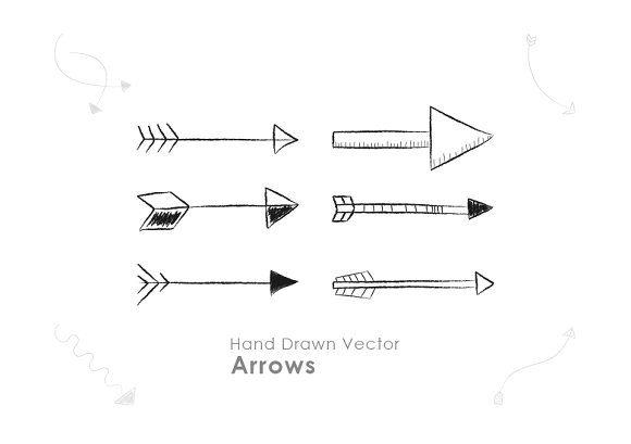 45 Hand Drawn Vector Arrows by Dreamstale on @creativemarket
