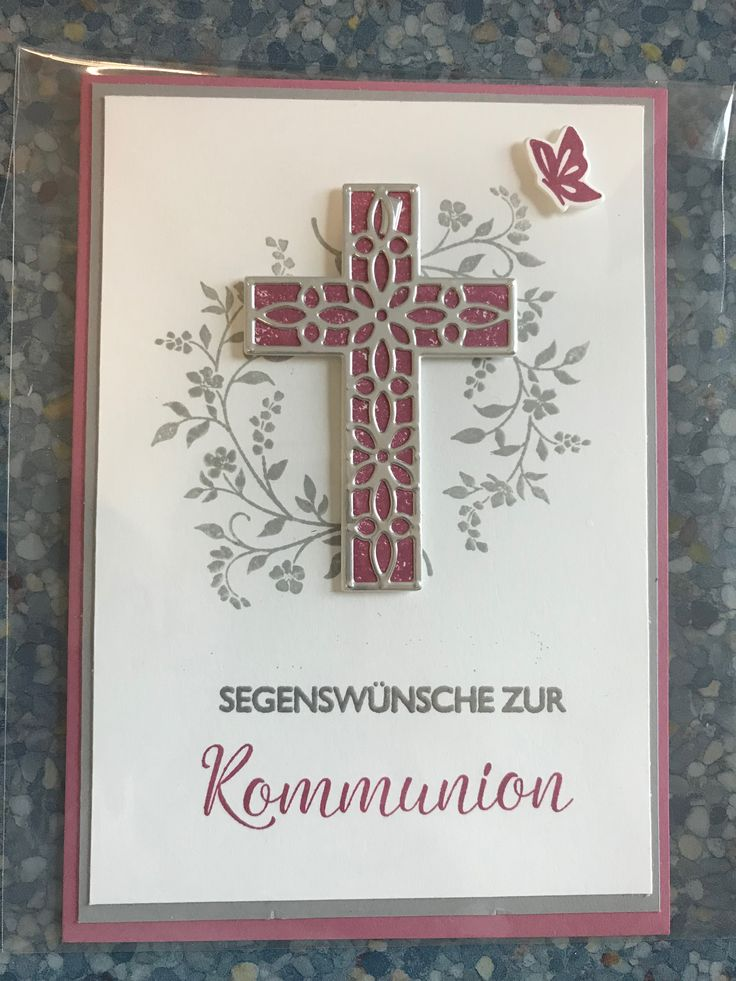 Kommunionkarte Stampin Up Hoffe und Glaube Frühjahr 2018 u. Segensfeste