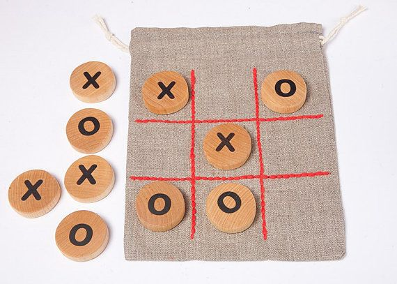 tic tac toe game table game wooden game for children by DINDINTOYS