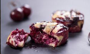 Mini cherry clafoutis