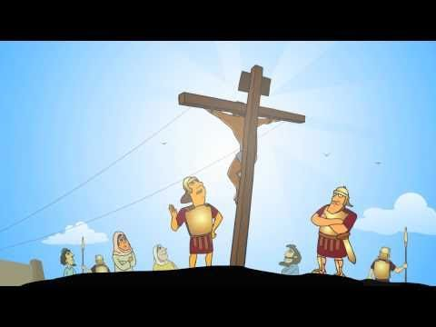 The Easter story animated 1/3 - Jesus is nailed to a cross (HD)