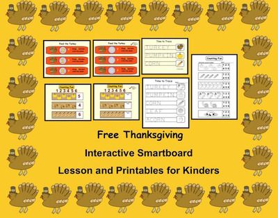Turkey+Time,+Interactive+Smartboard+Lesson+and+Printables+for+Kinder+from+Teaching+The+Smart+Way+on+TeachersNotebook.com+-++(7+pages)++-+Free+interactive+Smartboard+lesson+for+Thanksgiving+(Kinder)