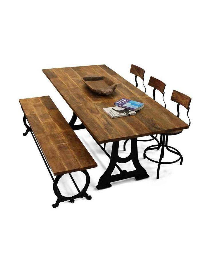 Rustikt Planke Spisebord