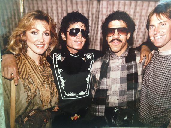 Linda Thompson (wife of Bruce), Michael Jackson, Lionel Richie, Bruce Jenner